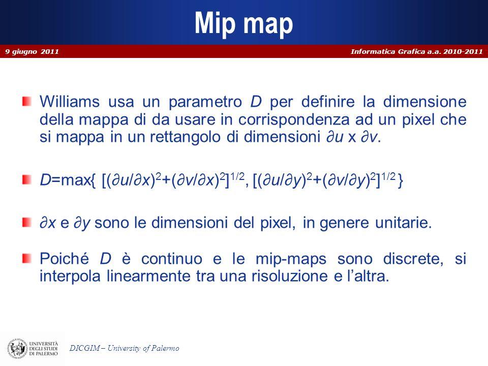 Mip map 9 giugno 2011.