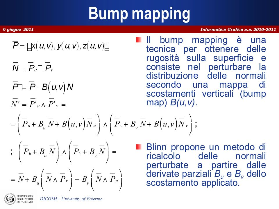 Bump mapping 9 giugno 2011.
