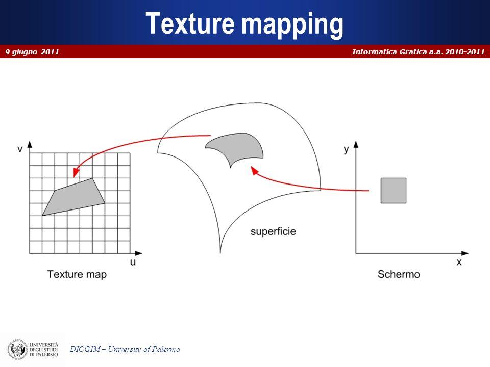Texture mapping 9 giugno 2011