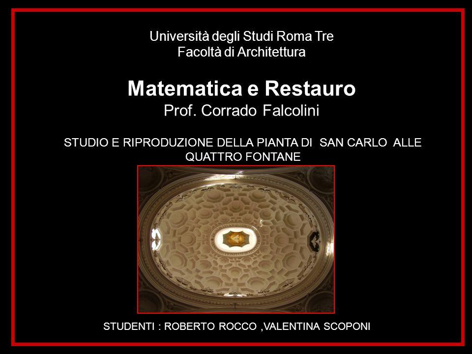Matematica e Restauro Prof. Corrado Falcolini