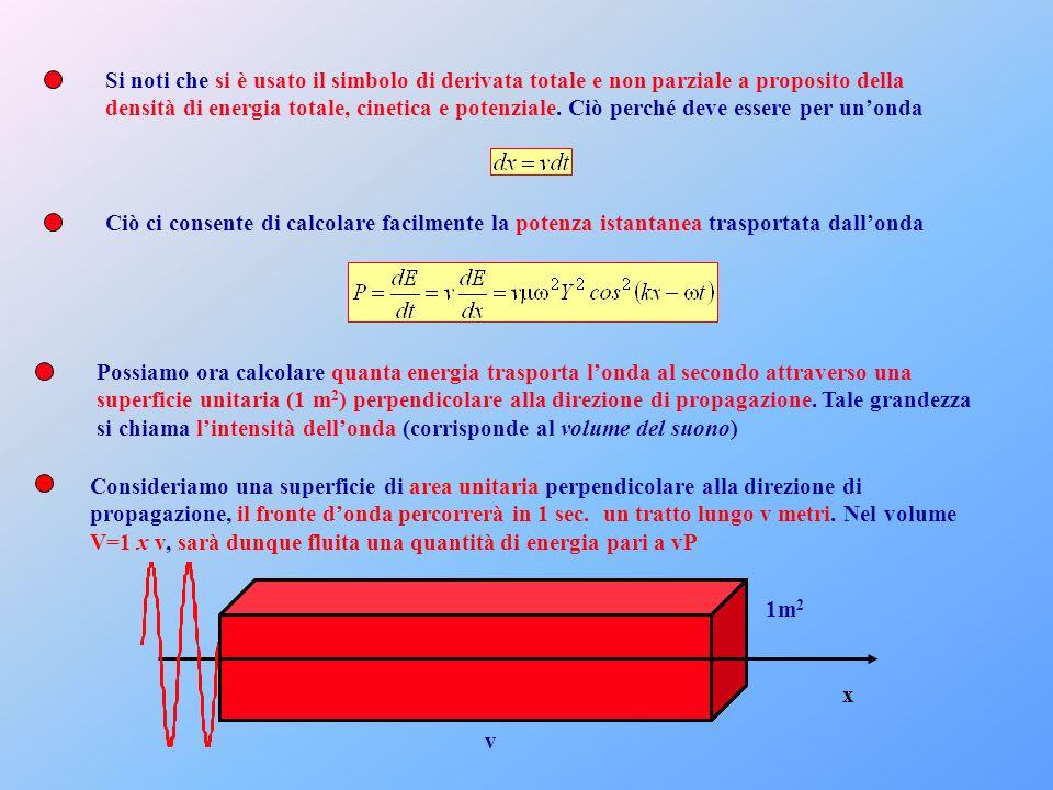 Si noti che si è usato il simbolo di derivata totale e non parziale a proposito della