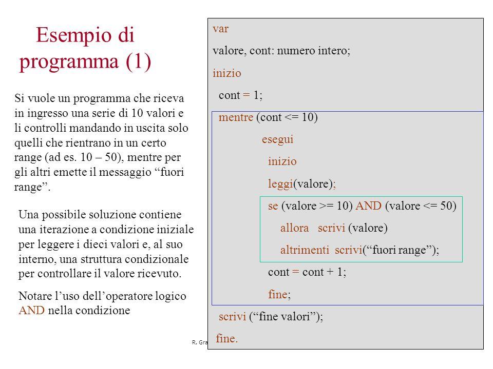 Esempio di programma (1)