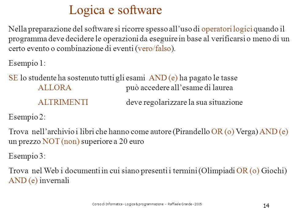 Logica e software