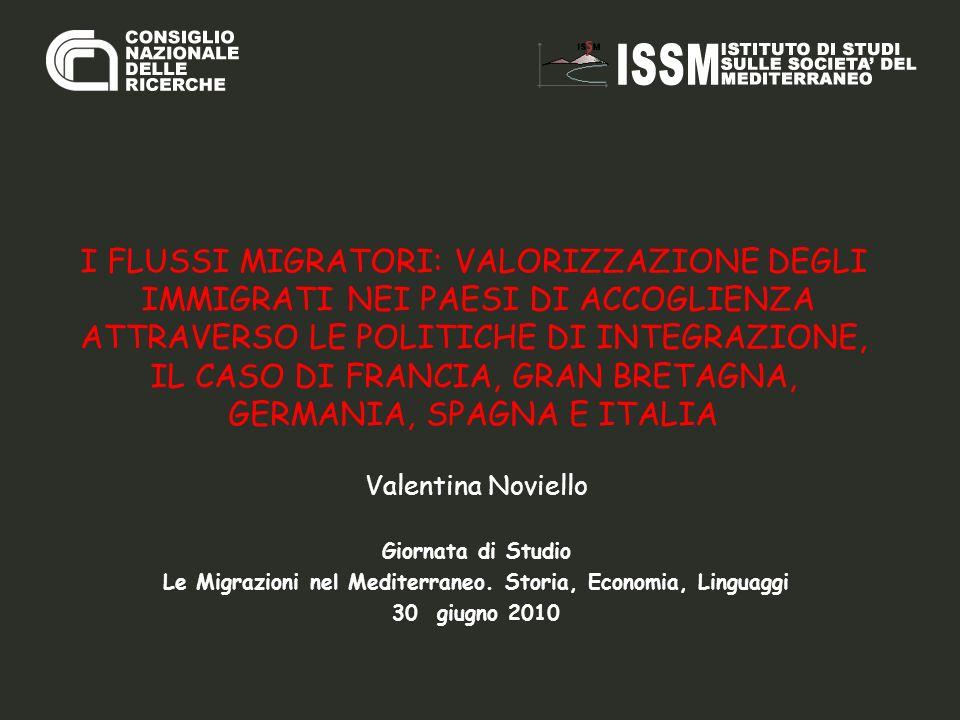 Le Migrazioni nel Mediterraneo. Storia, Economia, Linguaggi