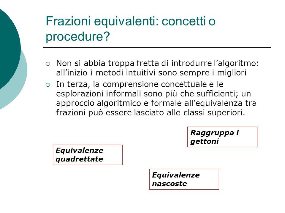 Frazioni equivalenti: concetti o procedure