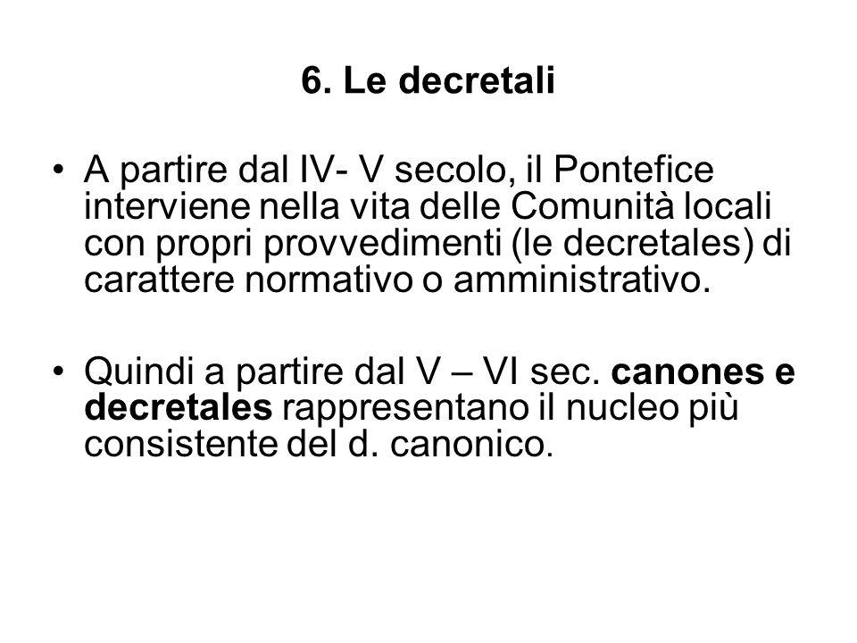 6. Le decretali