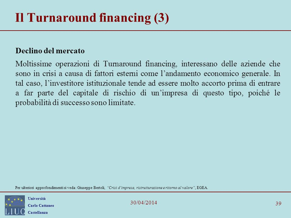 Il Turnaround financing (3)