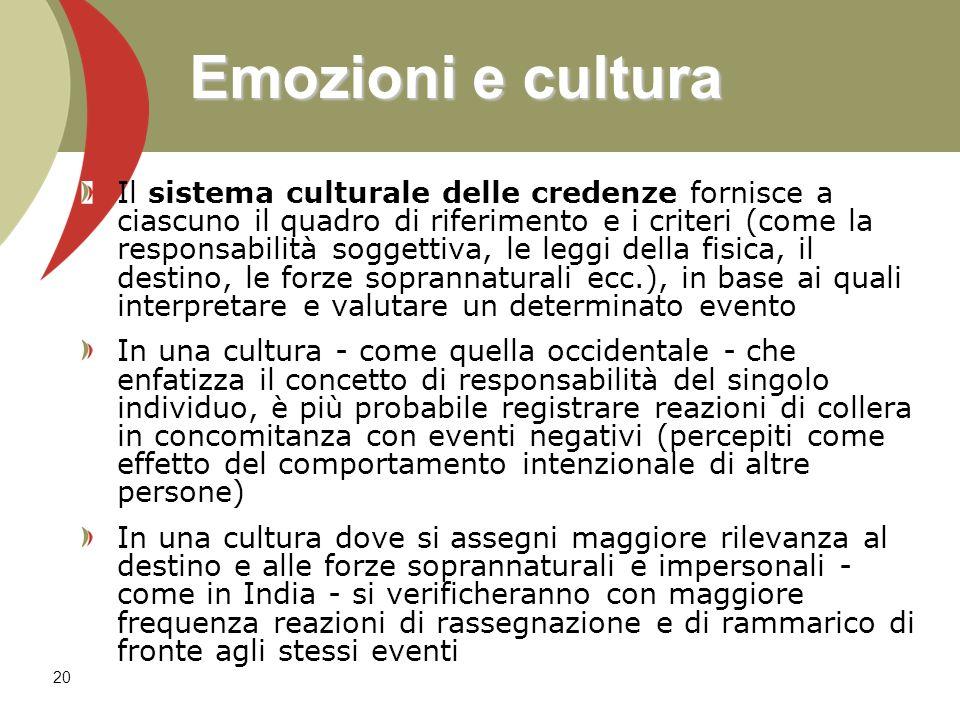 Emozioni e cultura