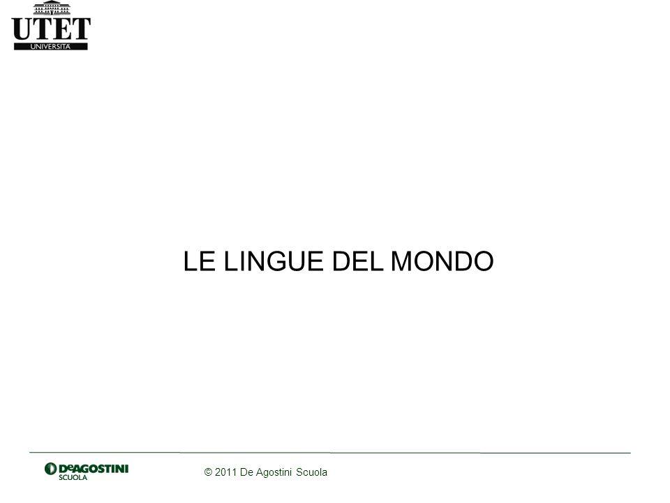 LE LINGUE DEL MONDO