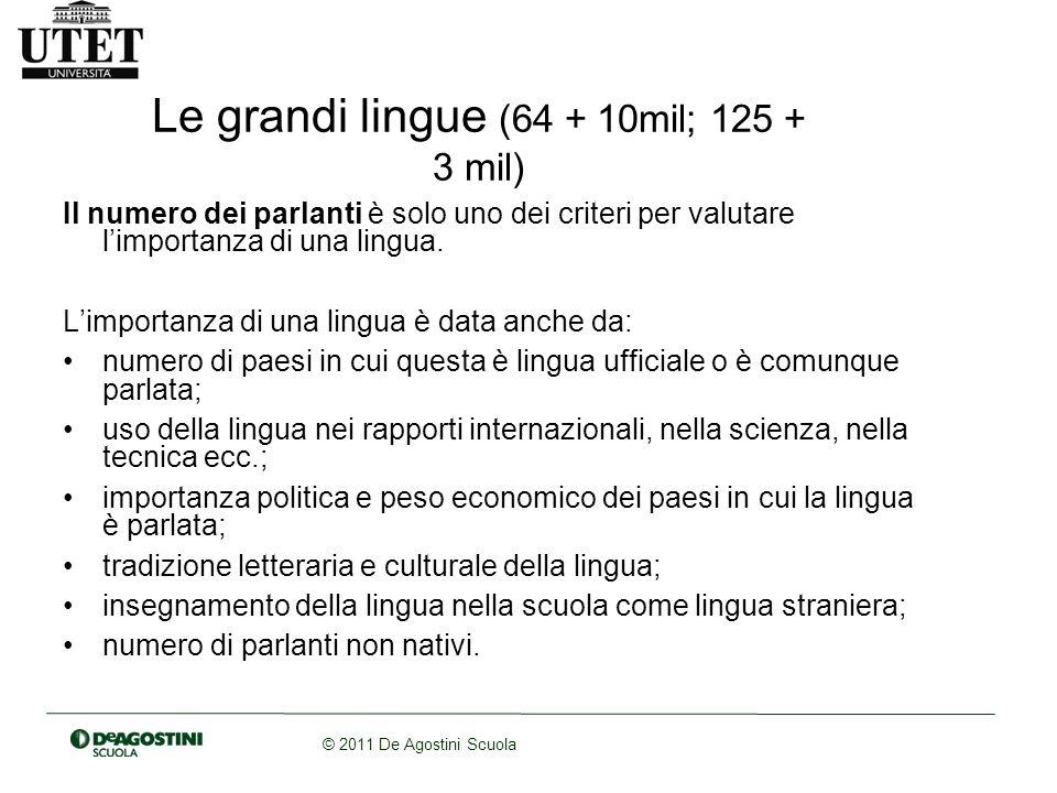 Le grandi lingue (64 + 10mil; 125 + 3 mil)