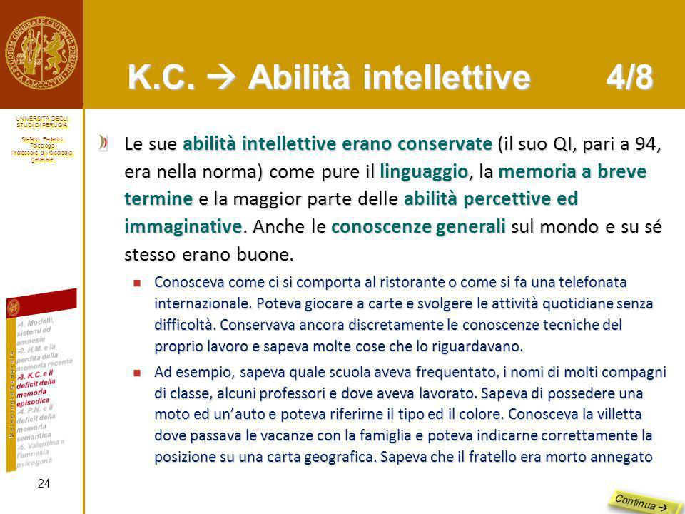 K.C.  Abilità intellettive 4/8
