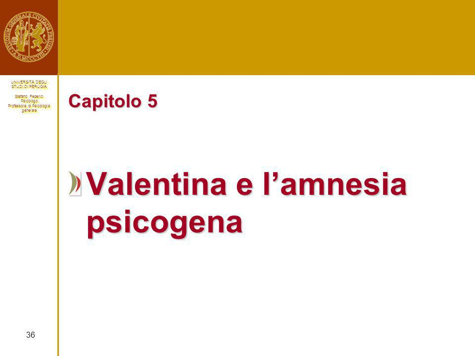 Valentina e l'amnesia psicogena