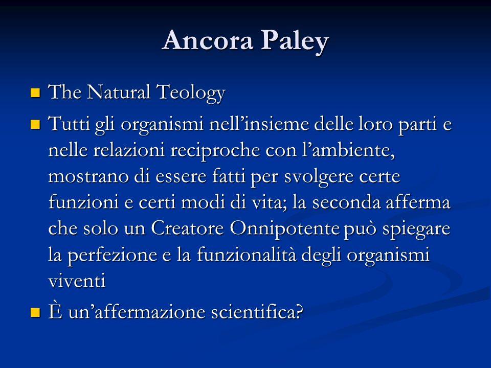Ancora Paley The Natural Teology
