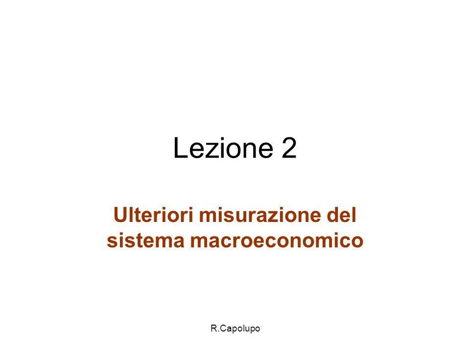 Ulteriori misurazione del sistema macroeconomico
