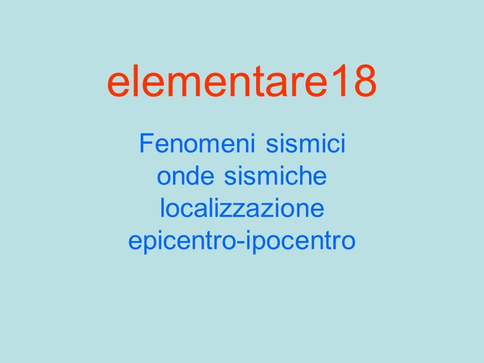 Fenomeni sismici onde sismiche localizzazione epicentro-ipocentro
