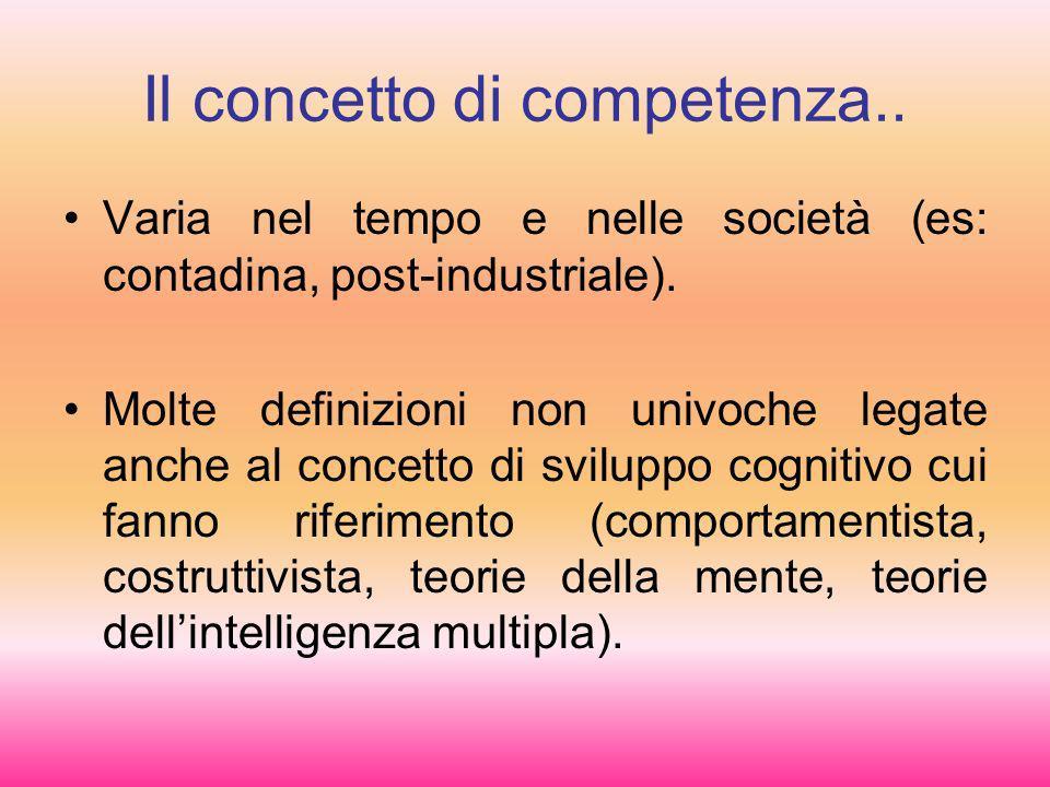 Il concetto di competenza..