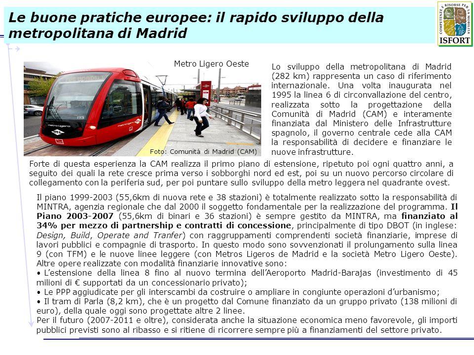 Le buone pratiche europee: il rapido sviluppo della metropolitana di Madrid