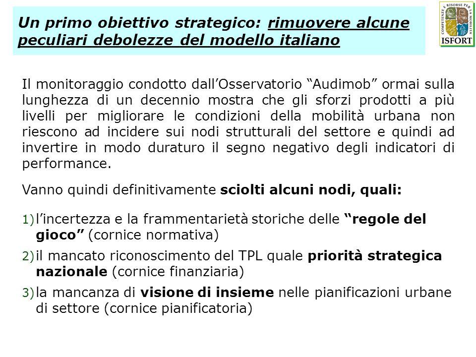 Un primo obiettivo strategico: rimuovere alcune peculiari debolezze del modello italiano