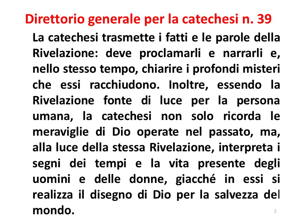 Direttorio generale per la catechesi n. 39