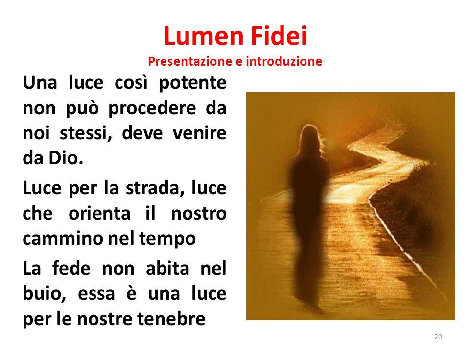 Lumen Fidei Presentazione e introduzione
