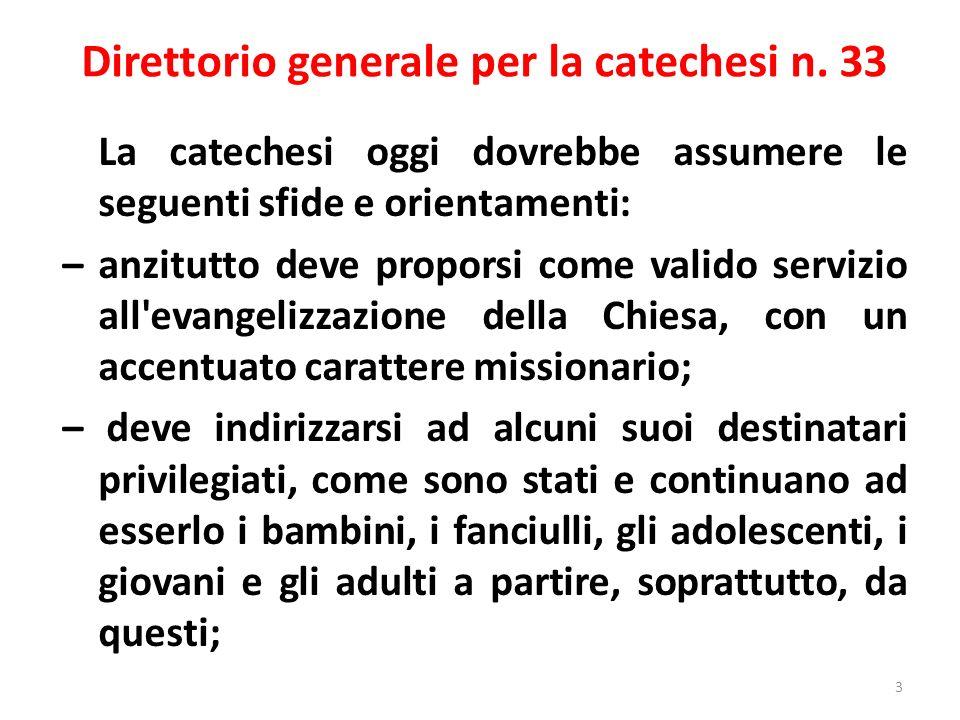 Direttorio generale per la catechesi n. 33