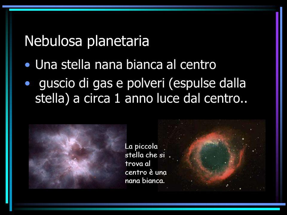 Nebulosa planetaria Una stella nana bianca al centro