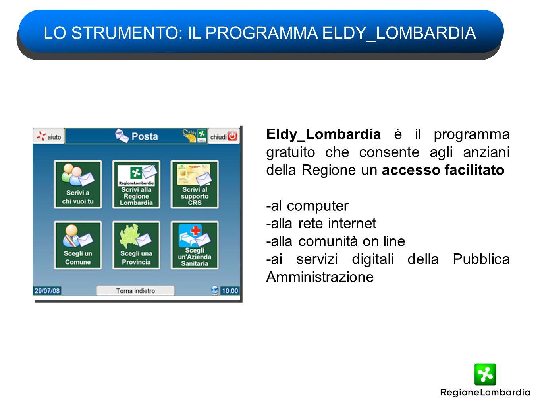 LO STRUMENTO: IL PROGRAMMA ELDY_LOMBARDIA