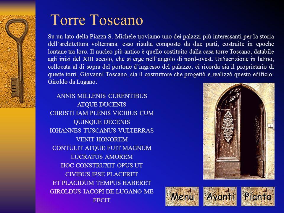 Torre Toscano Menu Avanti Pianta