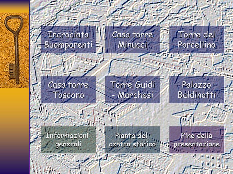 Incrociata Buomparenti Casa torre Minucci Torre del Porcellino