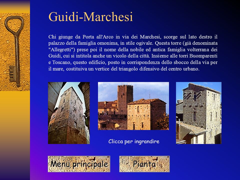 Guidi-Marchesi Menu principale Pianta