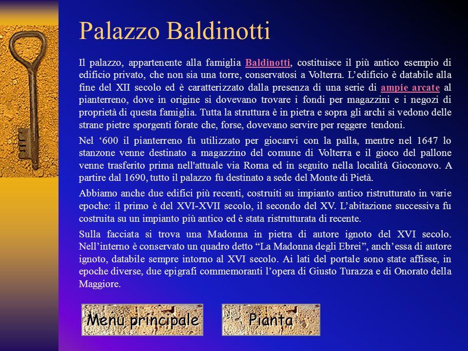Palazzo Baldinotti Menu principale Pianta