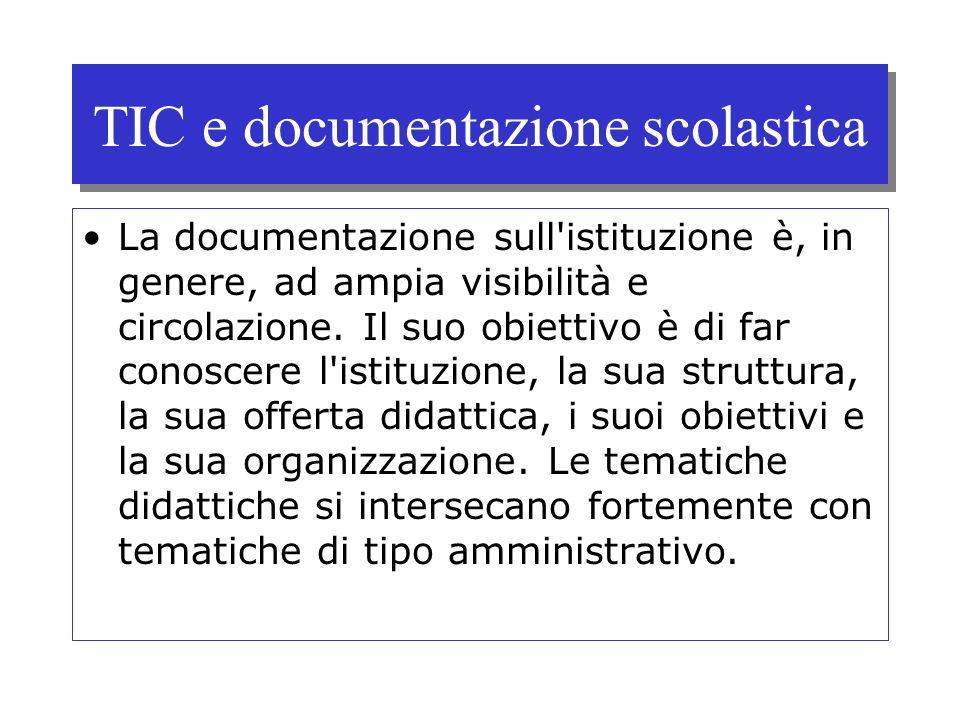 TIC e documentazione scolastica