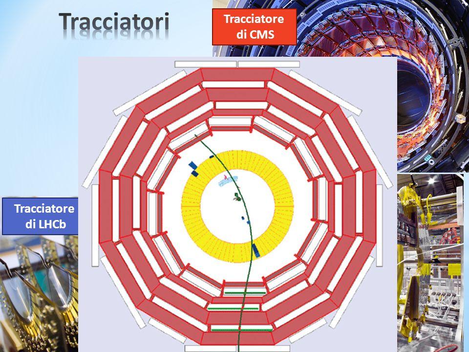 Tracciatori Tracciatore di CMS Tracciatore di LHCb Tracciatore