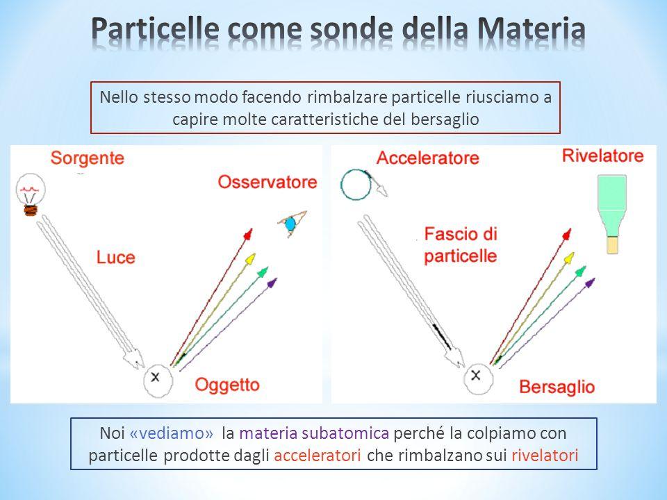 Particelle come sonde della Materia