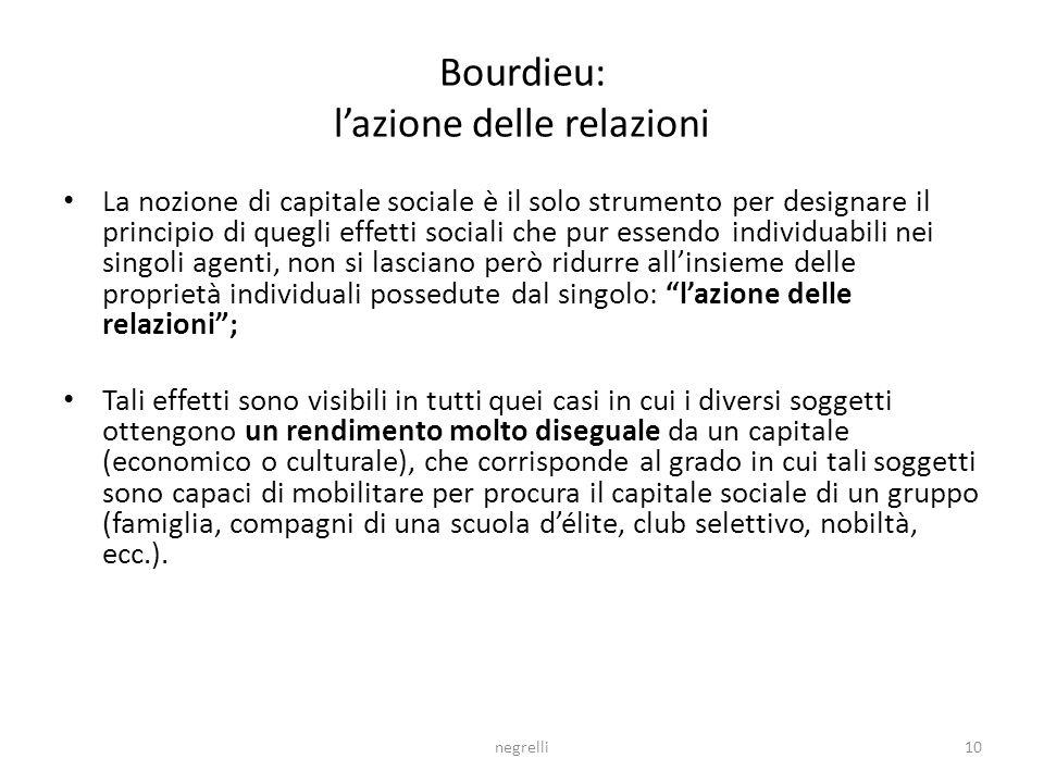 Bourdieu: l'azione delle relazioni