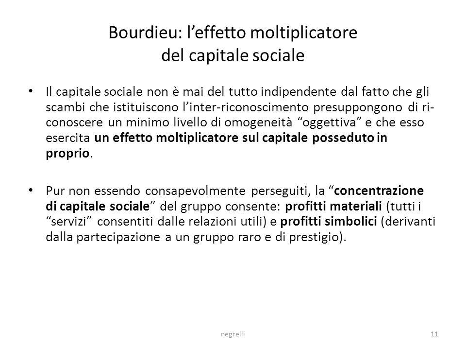 Bourdieu: l'effetto moltiplicatore del capitale sociale