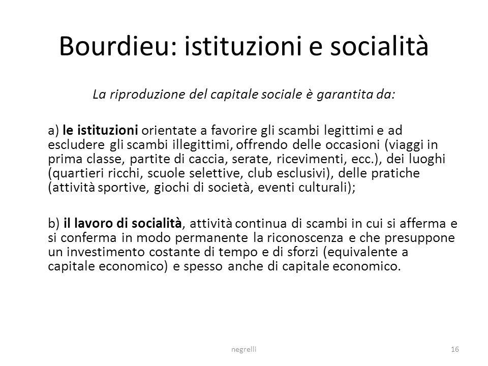 Bourdieu: istituzioni e socialità