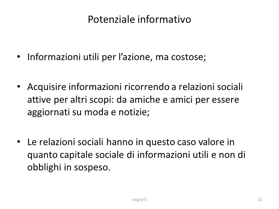 Potenziale informativo