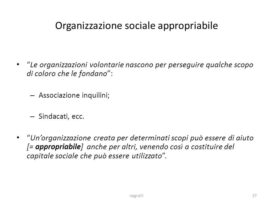 Organizzazione sociale appropriabile