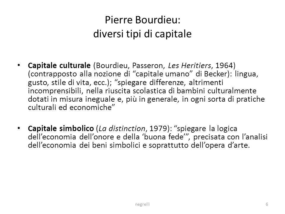 Pierre Bourdieu: diversi tipi di capitale