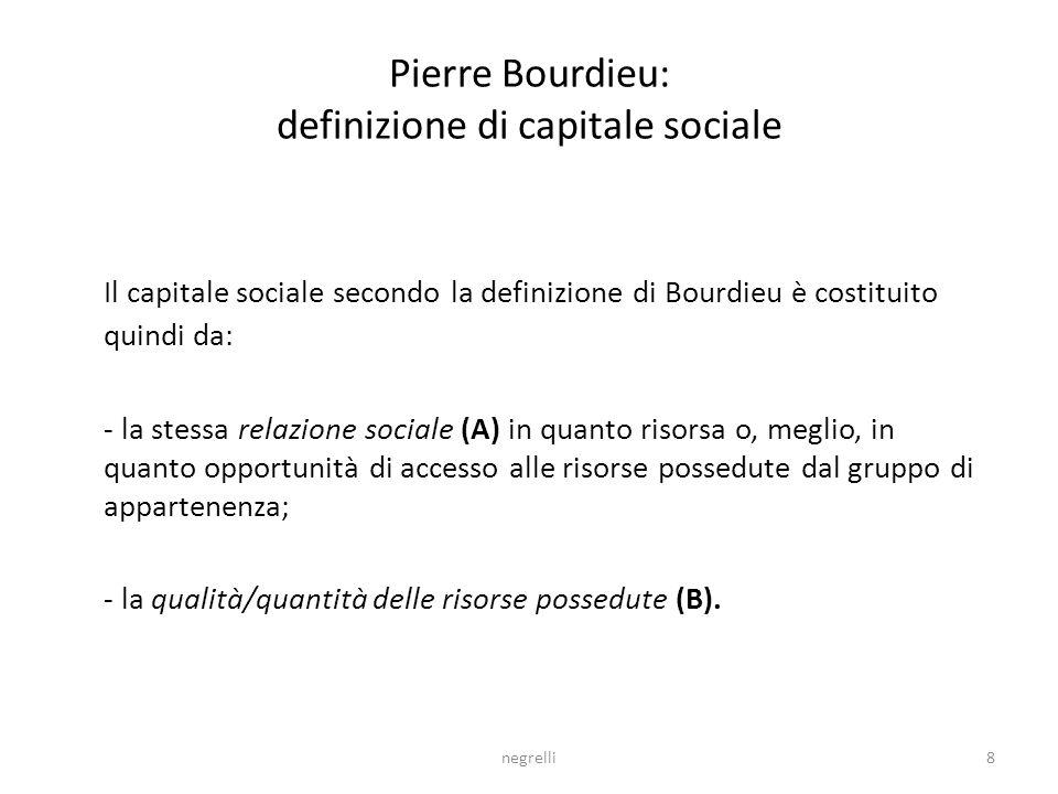Pierre Bourdieu: definizione di capitale sociale