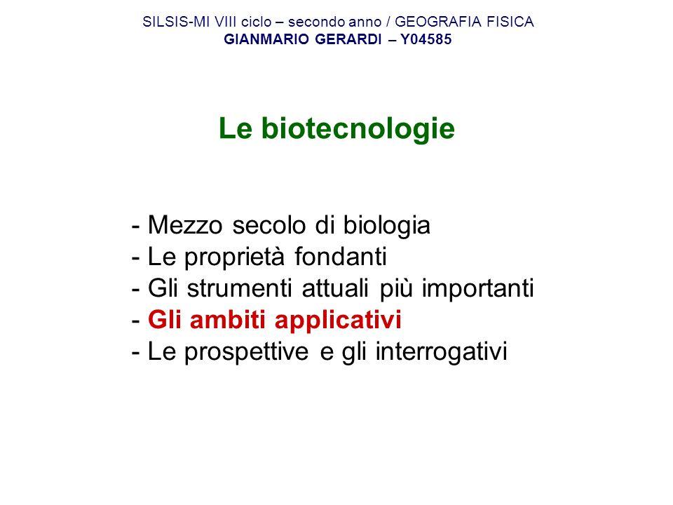 SILSIS-MI VIII ciclo – secondo anno / GEOGRAFIA FISICA
