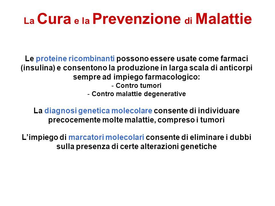 La Cura e la Prevenzione di Malattie