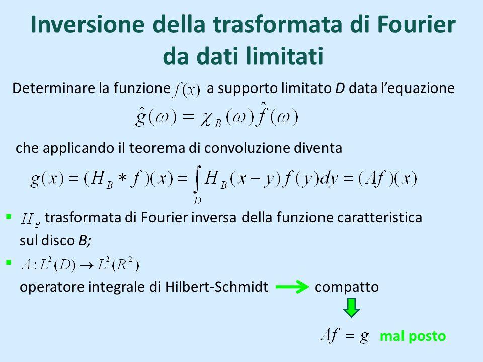 Inversione della trasformata di Fourier da dati limitati
