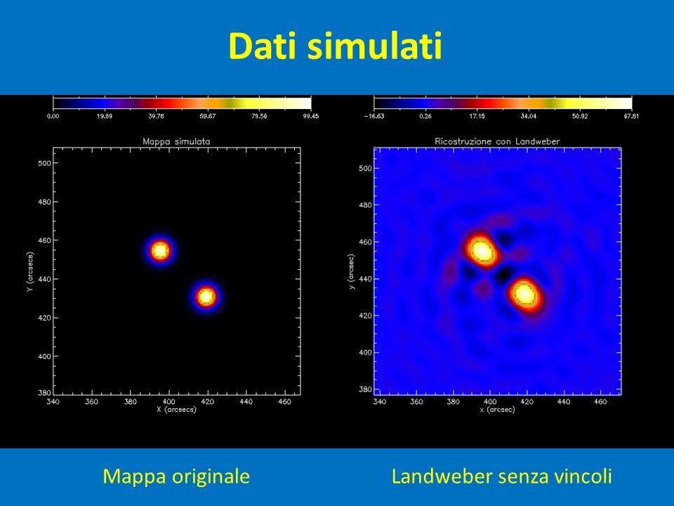 Dati simulati Mappa originale Landweber senza vincoli