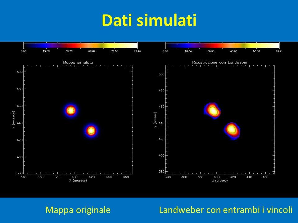 Dati simulati Mappa originale Landweber con entrambi i vincoli