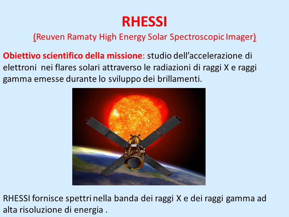 RHESSI (Reuven Ramaty High Energy Solar Spectroscopic Imager)