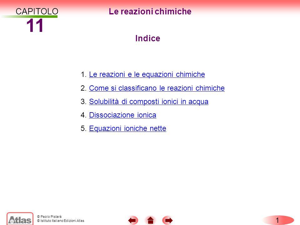 11 CAPITOLO Le reazioni chimiche Indice