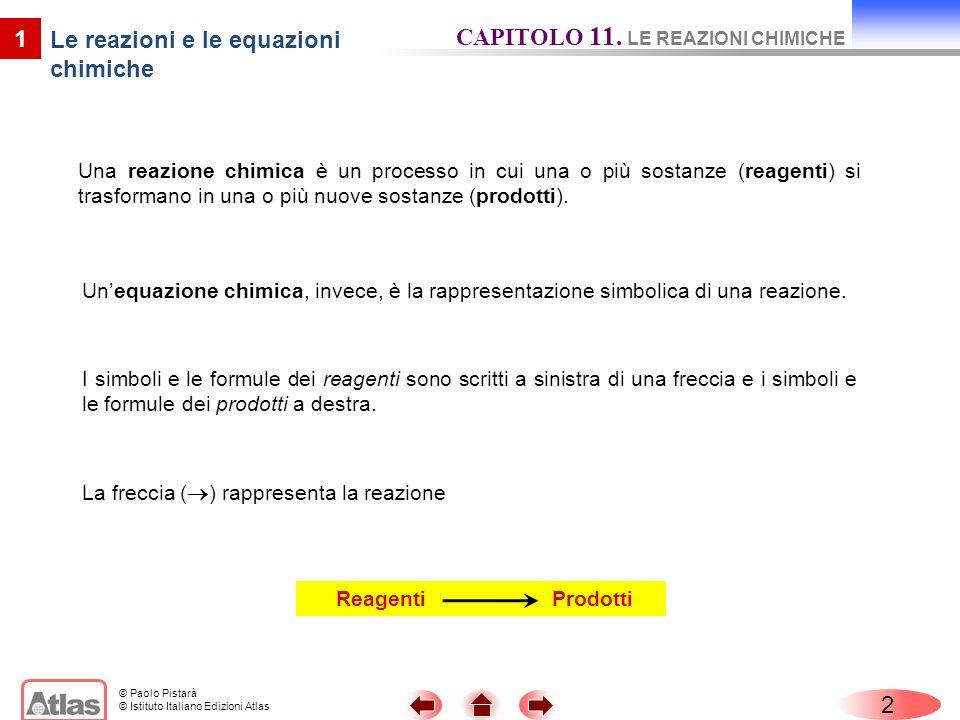 Le reazioni e le equazioni chimiche
