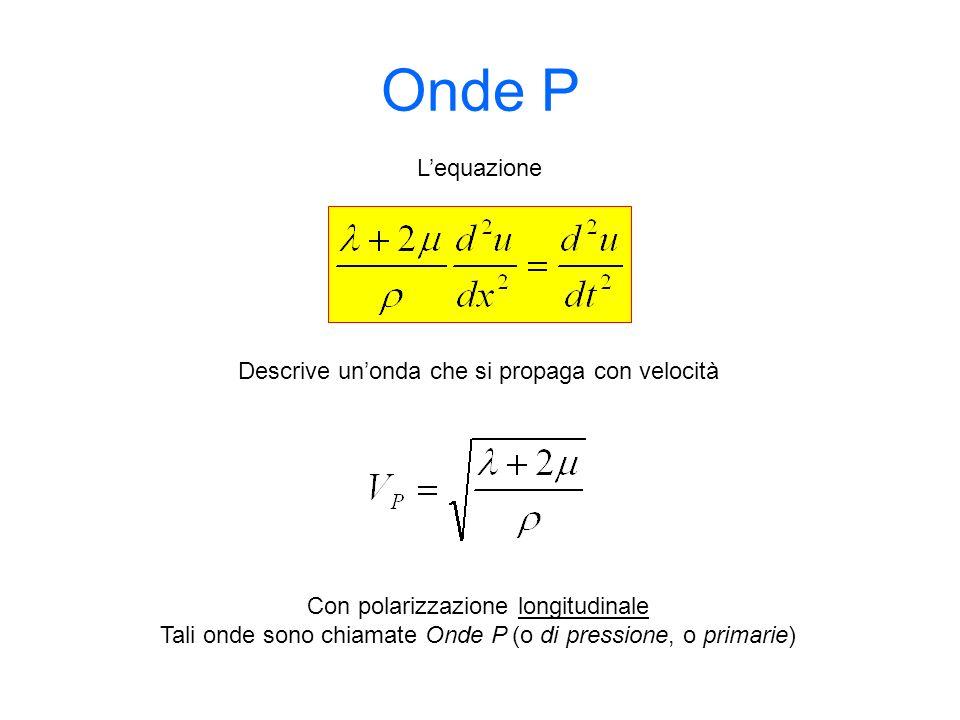 Onde P L'equazione Descrive un'onda che si propaga con velocità